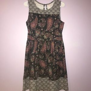 Paisley Printed Tank Top Dress